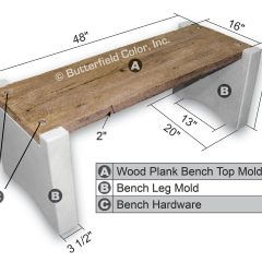 Concrete Bench Mold System Sample with Specs
