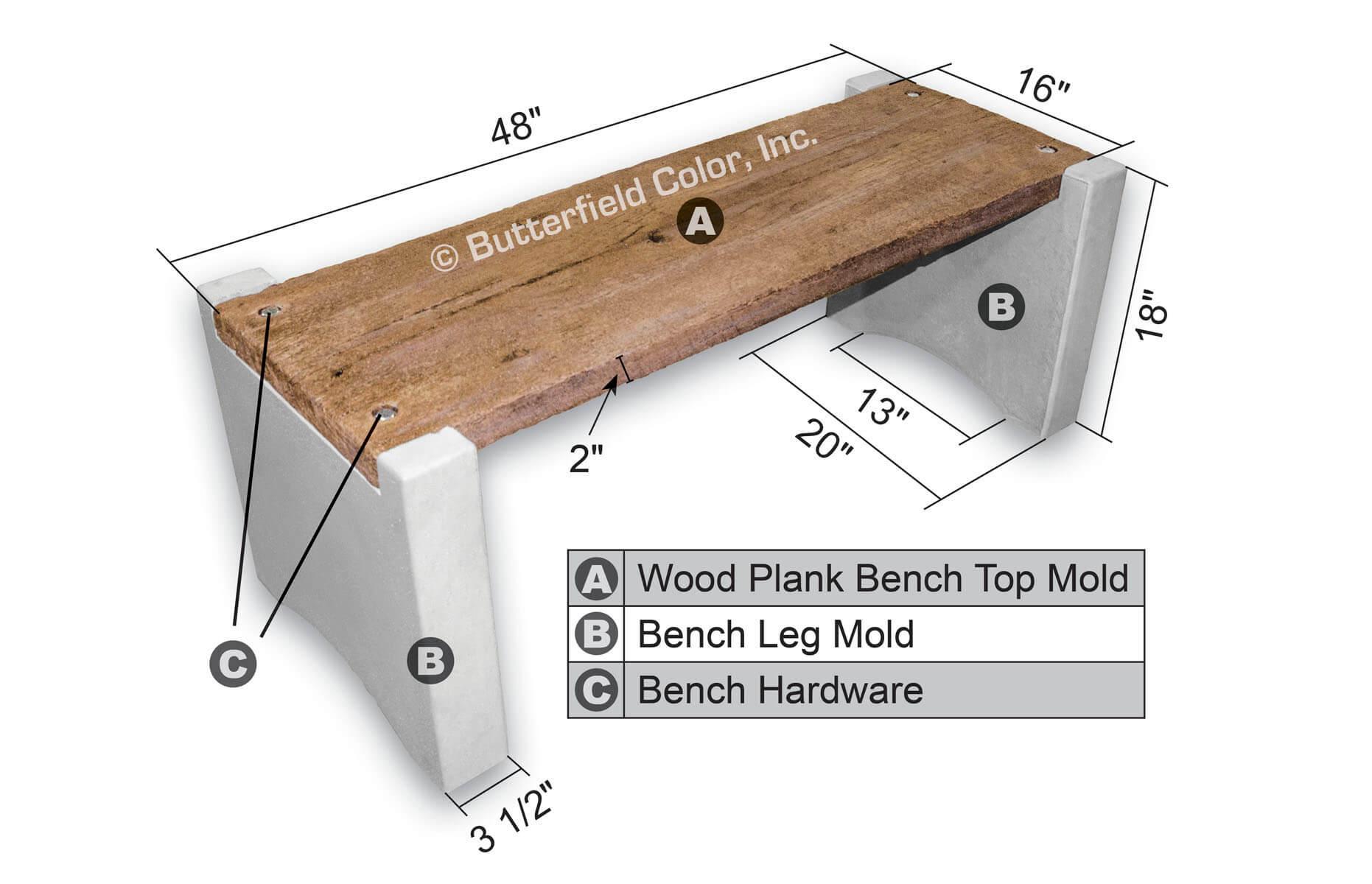 Sculpting, Molding & Ceramics Slip Casting Molds & Kits Concrete Bench Leg Molds