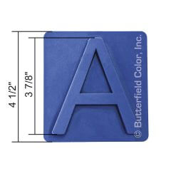 3 788243 Letters Stamp with Specs