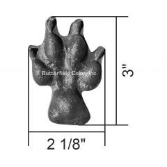 Coyote Paw Print Set of Four Front 2 Stamp with Specs