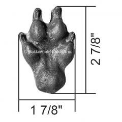Coyote Paw Print Set of Four Rear 2 Stamp with Specs
