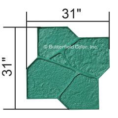 Fox Valley Flagstone Half Flexible Stamp with Specs