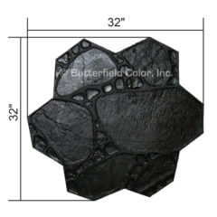 Garden Path Black Stamp with Specs