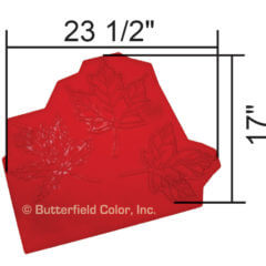 Maple Leaf Cluster Stamp with Specs