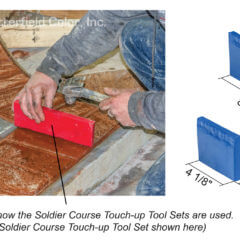 New Brick Soldier Course Touch-up Tool Set with Specs