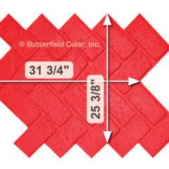 Old Chicago Herringbone Brick Stamp with Specs