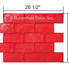 Old Chicago Running Bond Brick Stamp with Specs