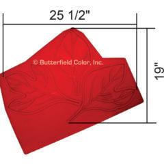 Sassafras Leaf Cluster Stamp with Specs