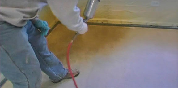 Elements Transparent Concrete Stain Installation