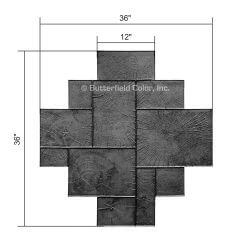 Wood Paver Ashlar Stamp with Specs