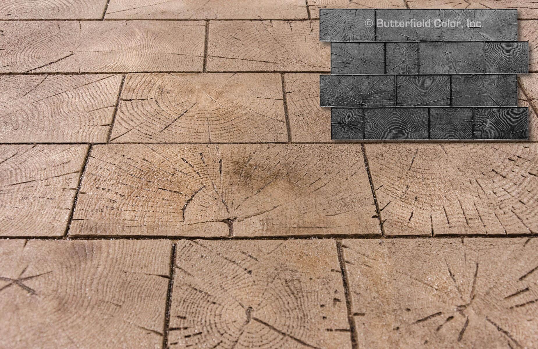 Wood Paver Cobble Butterfield Color 174