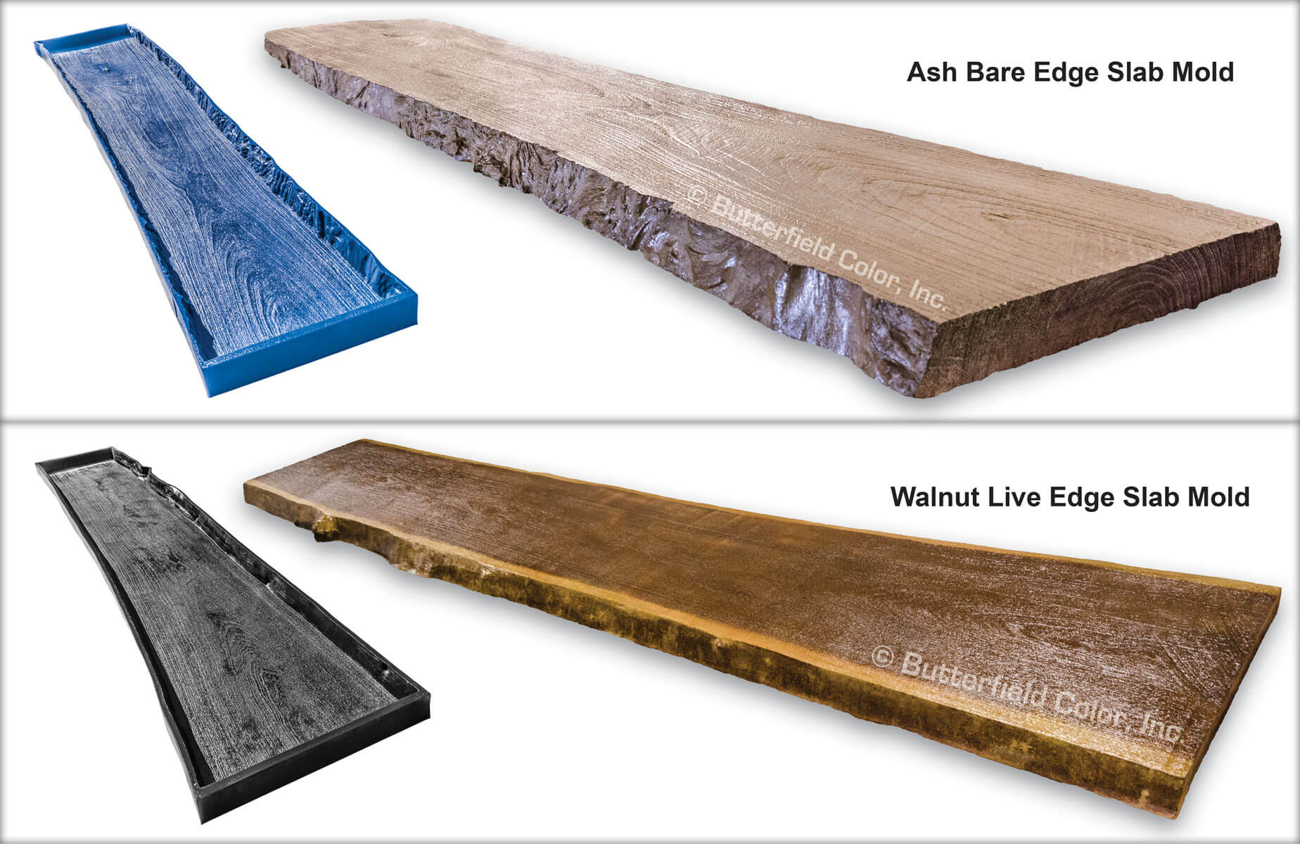Wood Slab Mold System Butterfield Color 174