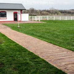 Nickel Plate Rail Spur Stamp Farm Walkway
