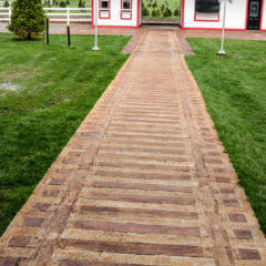 Nickel Plate Rail Spur Stamp Farm Walkway