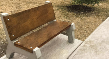 Concrete Bench Mold with Backrest System Sample