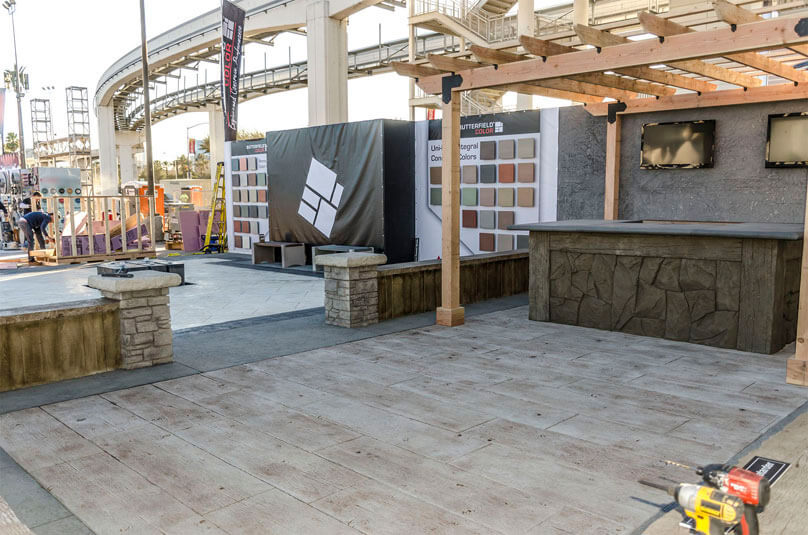 World of Concrete booth Butterfield Color