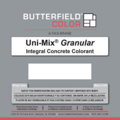 Uni-Mix Granular Integral Concrete Colorant Packaging