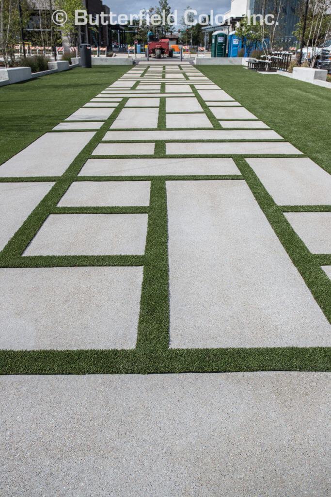 Modern concrete squares