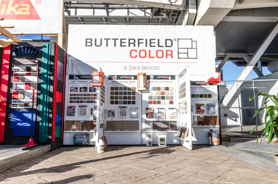 butterfield color world of concrete booth
